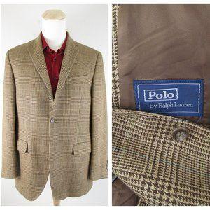 Polo RalphLauren Corneliani Brown Plaid Sport Coat